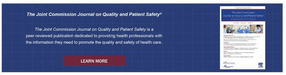 Journal on quality and patient safety.